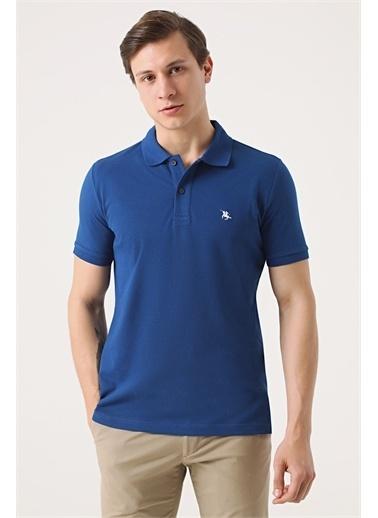 D'S Damat Ds Damat Regular Fit Vizon Pike Dokulu T-Shirt Saks